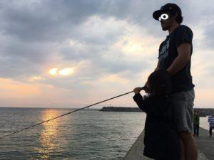 奈多漁港 夕日