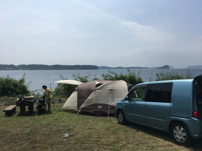 七ツ釜キャンプ場