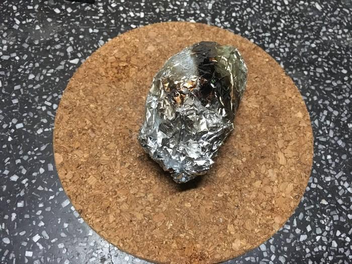 焚火に生卵