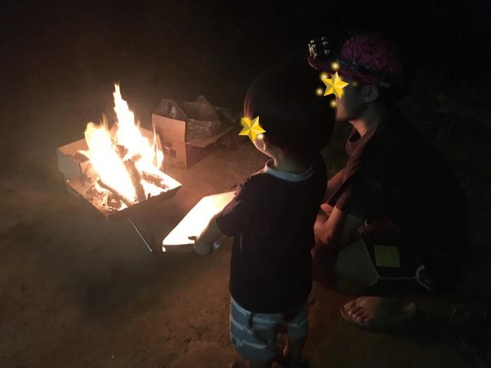 金比羅キャンプ場 焚火
