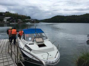 田島 乗船