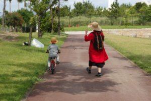 息子 自転車