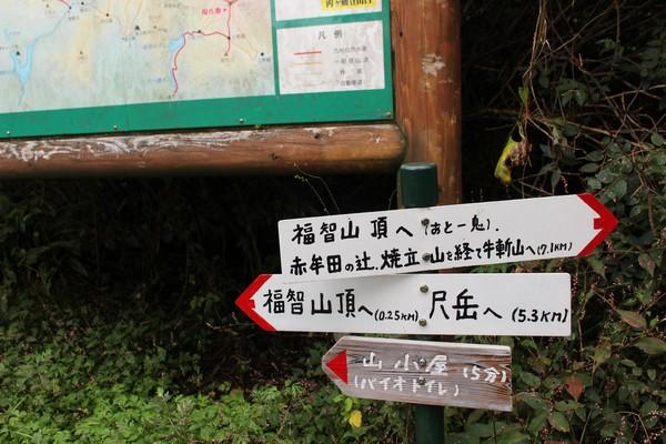 山頂までの看板