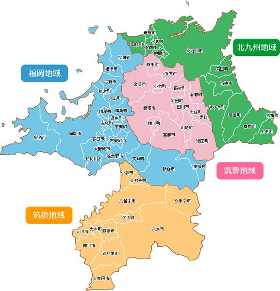 福岡のマップ