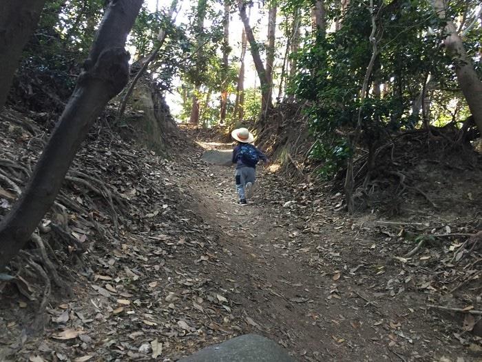 十防山 走る息子
