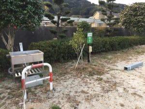 十防山RVパーク 水道・コンセント